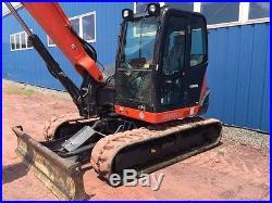 2014 Kubota KX080 Excavator Cab Heat AC Dozer Blade ONLY 580 HOURS