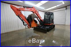 2014 Kubota Kx080-4 Excavator, Cab, Heat/ac, Front Aux. Hyd