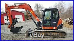 2014 Kubota Kx080-4 Excavator Heat A/c Long Arm Hydraulic Thumb! We Finance