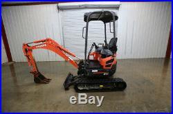 2014 Kubota U17vr1 Mini Track Excavator, Open Rops, 2 Speed, 16hp, Aux. Hyd