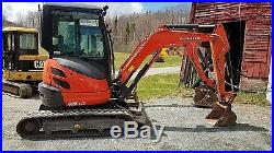 2014 Kubota U25 Zero Tail Swing Mini Excavator