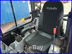 2014 Kubota U35 Mini Excavator Cab AC Heat, Zero Tail Swing, ONLY 265 HOURS