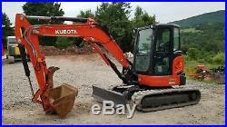 2014 Kubota U55 Excavator Loaded Hydraulic Thumb 979 Hours Exceptional! Finance