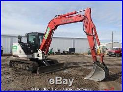 2014 Link Belt 80x3 Hydraulic Excavator Cab Diesel A/C Heat Aux Hyd bidadoo
