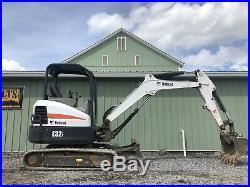 2015 Bobcat E32i Mini Excavator 1318 Hours Aux Kubota Diesel Low Cost Shipping