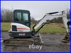 2015 Bobcat E35I Mini Excavator Hydraulic HEAT A/C Cab Aux Hyd Blade E35
