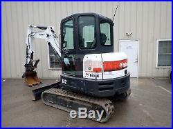2015 Bobcat E42 Mini Excavator, Cab, Heat/ac, 2 Seepd, Long Arm, Thumb, 42.7 HP
