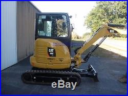 2015 CATERPILLAR 303E CR MINI EXCAVATOR, ENCLOSED CAB with HEAT ONLY 171 HOURS