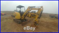 2015 Caterpillar 303E Excavator MIni Ex Trackhoe 465Hrs 24Hp 6721Weight Used