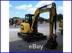 2015 Caterpillar 305.5E2 CR Mini Track Excavator CAB HEAT AIR AUX HYD CAT 305