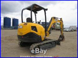 2015 JCB 8029-CTS Hydraulic Mini Excavator Rubber Tracks Hyd Thumb Blade bidadoo