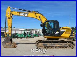 2015 JCB JS160LC Excavator Cab A/C Aux Hydraulic Trackhoe AMS Diesel bidadoo