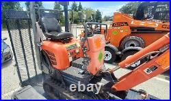 2015 Kubota K008-3 Mini Excavator-Scraper with Trailer-Digger-Tractor-Skid Steer