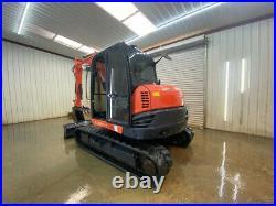 2015 Kubota Kx080-4 Cab Excavator With Ac/heat, 18 Bucket