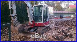 2015 Takeuchi TB235 Hydraulic Excavator 1040 Hours Well Maintained