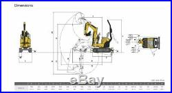 2015 YANMAR SV08 Mini Excavator Rubber Tracks (56hrs) ie Bobcat Kubota
