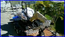 2016 BOBCAT E26 MINI EXCAVATOR, 2 SPEED, AUX HYDRAULICS, HYD THUMB, 24.8 hp