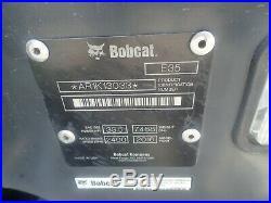 2016 Bobcat E35 Mini Excavator, Orops, Hyd Thumb, Angle Blade, 2speed, 156 Hours