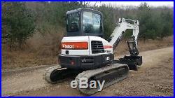 2016 Bobcat E45 Excavator Heat A/c Hydraulic Thumb Angle Blade Nice! Finance