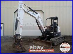2016 Bobcat E50 Mini Excavator, Orops, 2 Speed, Aux Hyd, X-change, Long Arm