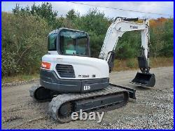 2016 Bobcat E85 Excavator Loaded Long Arm New Hydraulic Thumb Ready To Work