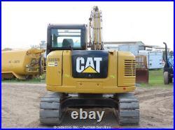 2016 Caterpillar 308E2CR Mini Excavator Steel Tracks Cab Backhoe bidadoo