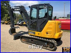 2016 John Deere 60G Rubber Track Excavator Cab AC Hydraulic Thumb Diesel Crawler