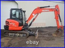 2016 Kubota Kx040-4 Mini Excavator, Cab, 2 Speed, Heat Ac, 289 Hrs, 41 HP Diesel