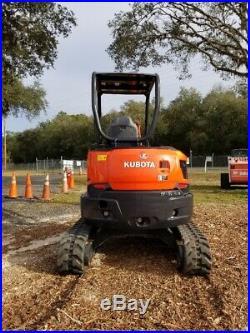 2016 Kubota U35-4 Mini Excavator, Diesel Engine, ONLY 297 HOURS! Ready to work