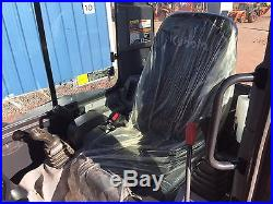 2016 Kubota U35 Mini Excavator Cab AC Heat, Zero Tail Swing, ONLY 150 HOURS