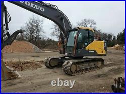 2016 Volvo EC160EL Hydraulic Excavator A/C Aux Hyd thumb coupler 1800hrs