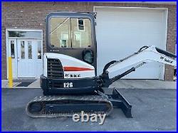 2017 Bobcat E26 Mini Excavator, Cab, Long Arm, 2 Speed, Cold Ac/heated Cab