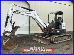 2017 Bobcat E50 Mini Excavator, Orops, 2 Spd, Aux Hyd, Hyd Thumb, 49.8 HP Diesel