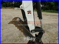 2017 Bobcat E55 Mini Excavator, Cab, Heat/ac, Hyd Thumb, Hyd X-change, 765 Hrs