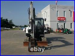 2017 Bobcat E63 Compact Excavator, Enclosed Cab, Hvac, 2spd, Long Arm, Hyd Thumb
