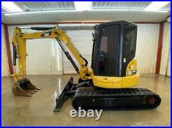 2017 Cat 305 E2 Cr Cab Mini Track Excavator With A/c And Heat