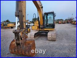 2017 Caterpillar 313FL GC Cab A/C Excavator Trackhoe Aux Hydraulics Cat