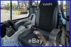 2017 KUBOTA U35-4 Zero Tail Excavator, with Cab, Angle Blade, and Thumb