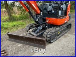 2017 Kubota KX040-4 mini Excavator with Hydraulic Thumb, 2 buckets ONLY 610 HRS