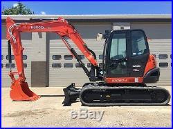 2017 Kubota KX080-4 Rubber Track Excavator Cab AC Heat Diesel Crawler Excavator