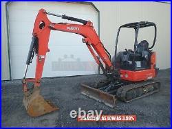 2017 Kubota Kx033-4 Mini Excavator, Orops, 2 Speed, Aux Hyd, 24.8 Hp, 827 Hrs