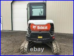 2018 Bobcat E35 Mini Excavator, Cab, Long Arm, Aux Hyd, 2 Speed, Heat A/c, 24 HP