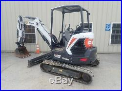 2018 Bobcat E35 Mini Excavator, Extendable Arm, Hyd Thumb, Angle Blade, 169 Hrs