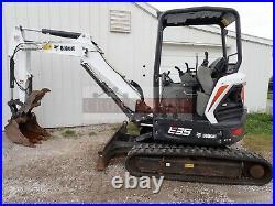 2018 Bobcat E35 Mini Excavator, Orops, Hyd Thumb, 2 Spd, 559 Hrs, 24.8 HP Kubota