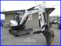 2018 Bobcat E42 Mini Excavator, 16 Hours! , 2 Speed, Laser Grading System, 42 HP