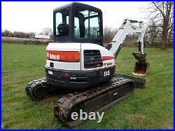 2018 Bobcat E45 Mini Excavator, Cab, Heat/ac, Thumb, Angle Blade, 42.7 HP Diesel