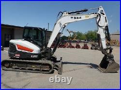 2018 Bobcat E85 Excavator, Cab, Heat/ac, 2 Speed, Hyd Thumb, 1054 Hrs, 65.9 HP