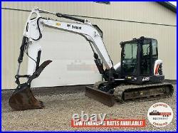 2018 Bobcat E85 Excavator, Cab, Long Arm, Hyd Thumb, 2 Speed, Hvac, 1082 Hours
