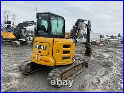 2018 John Deere 50G Hydraulic Mini Excavator with Cab Thumb Only 2000Hrs CLEAN