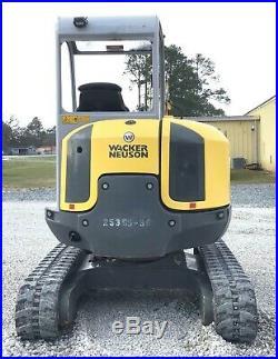 2018 Wacker Neuson EZ38 VDS Mini Excavator, Warranty, Thumb, Long Stick, 398hrs